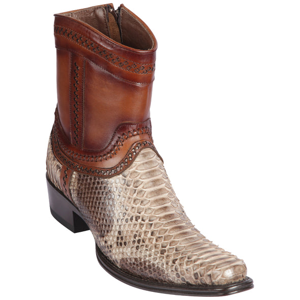 Men's Los Altos Python European Square Toe Boots Handcrafted - yeehawcowboy