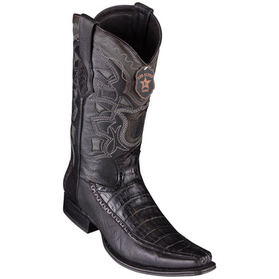 Men's Los Altos Caiman Belly Boots With Deer European Square Toe Handcrafted - yeehawcowboy