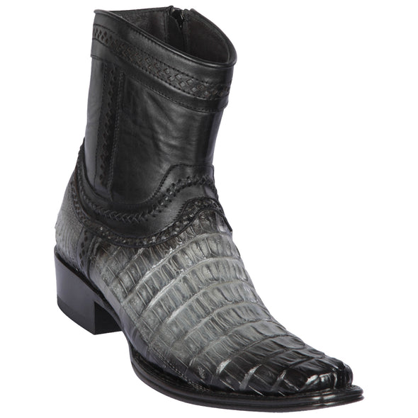 Men's Los Altos Caiman Tail Boots European Square Toe Boots Handcrafted - yeehawcowboy
