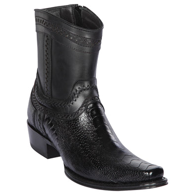 Men's Los Altos Ostrich Leg European Square Toe Boots Handcrafted - yeehawcowboy