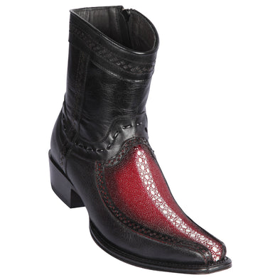 Men's Los Altos Rowstone Stingray And Deer Boots European Square Toe Handcrafted - yeehawcowboy