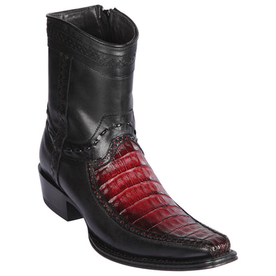 Men's Los Altos Caiman Belly And Deer Boots European Square Toe Handcrafted - yeehawcowboy
