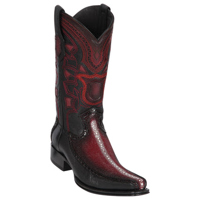 Men's Los Altos Row Stone Stingray With Deer European Square Toe Boots Handcrafted - yeehawcowboy