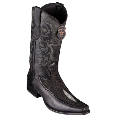 Men's Los Altos Stingray Boots With Deer European Square Toe Handcrafted - yeehawcowboy