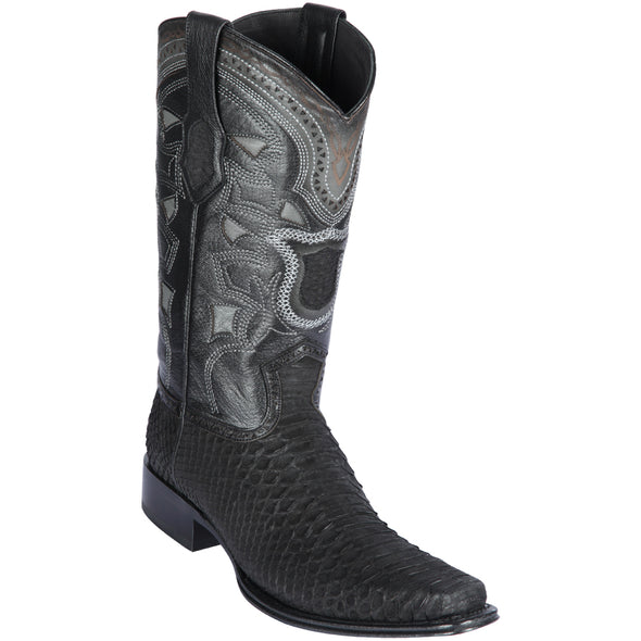 Men's Los Altos Python Boots European Square Toe Handcrafted - yeehawcowboy