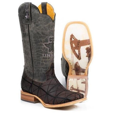 Men's Tin Haul Derrick Boots With Pumpin Sole Handcrafted - yeehawcowboy