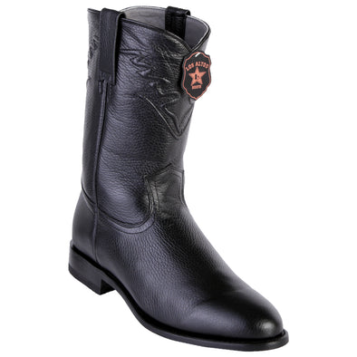 Men's Los Altos Roper Boots Elk Leather Round Toe Handcrafted - yeehawcowboy