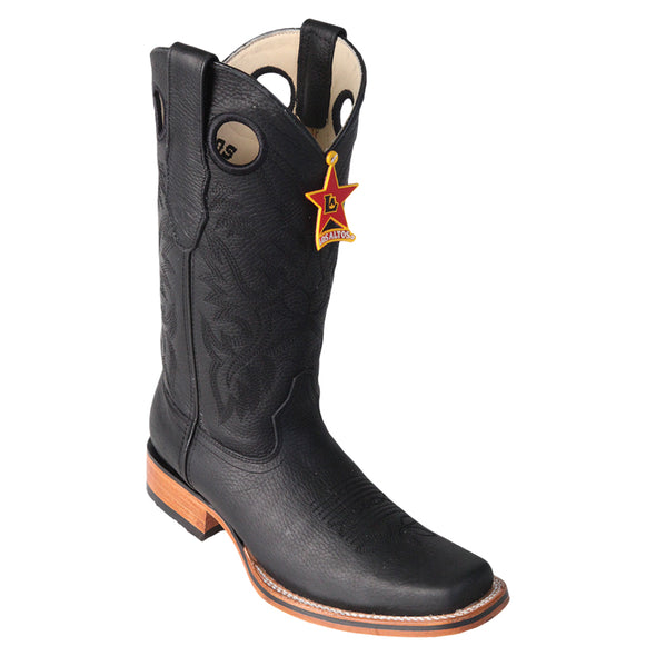 Men's Los Altos Square Toe Leather Boots Handmade - yeehawcowboy