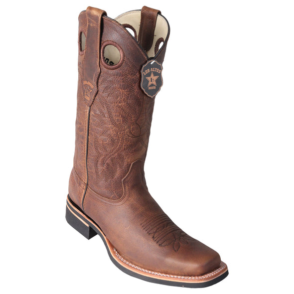 Men's Los Altos Square Toe Boots With Rubber Sole Handcrafted - yeehawcowboy