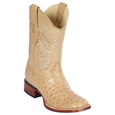 Men's Los Altos Full Quill Ostrich Boots Square Toe Handcrafted - yeehawcowboy