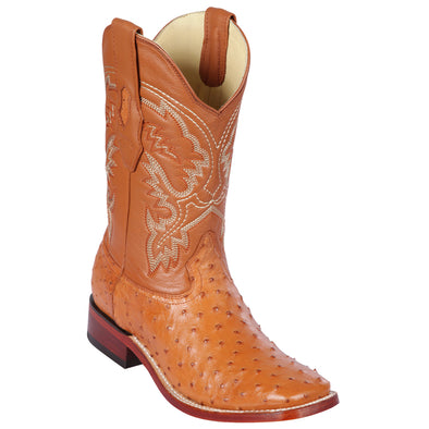 Men's Los Altos Square Toe Full Quill Ostrich Boots Handmade - yeehawcowboy