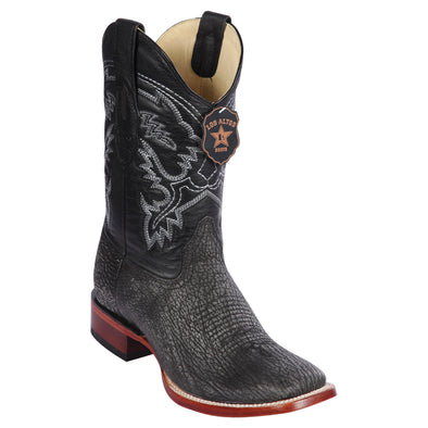 Men's Los Altos Genuine Sharkskin Square Toe Boots Handcrafted - yeehawcowboy