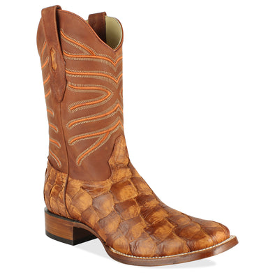 Men's Los Altos Genuine Pirarucu Fish Boots Handcrafted - yeehawcowboy