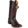 Men's King Exotic Square Toe Ostrich Boots  Rubber Sole & Saddle - yeehawcowboy