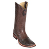 Men's Los Altos Square Toe Lizard Boots With Saddle Handmade - yeehawcowboy