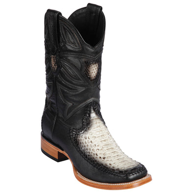 Men's Los Altos Python and Deer Boots Handcrafted - yeehawcowboy