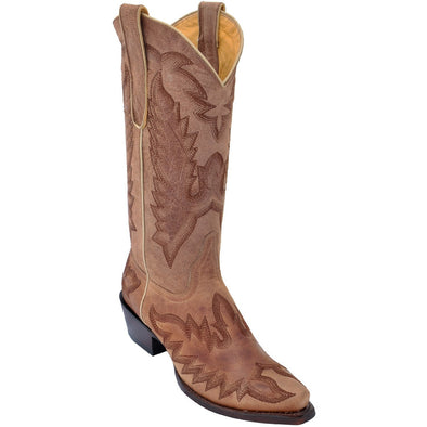 Women's Los Altos Snip Toe Leather Boots With Hand Embroidery - yeehawcowboy