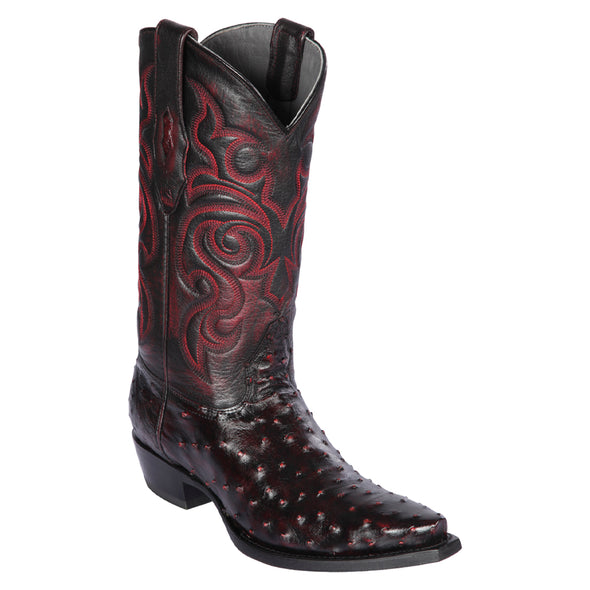Men's Los Altos Full Quill Ostrich Snip Toe Boots Handcrafted - yeehawcowboy