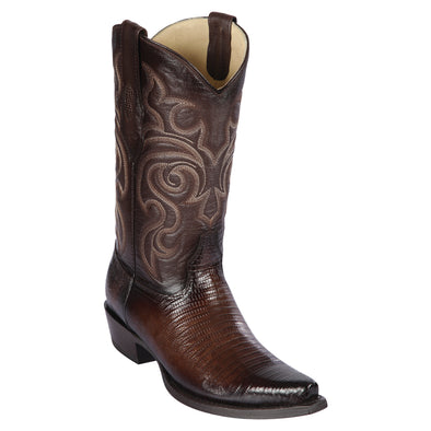 Men's Los Altos Snip Toe Teju Lizard Boots Handcrafted - yeehawcowboy