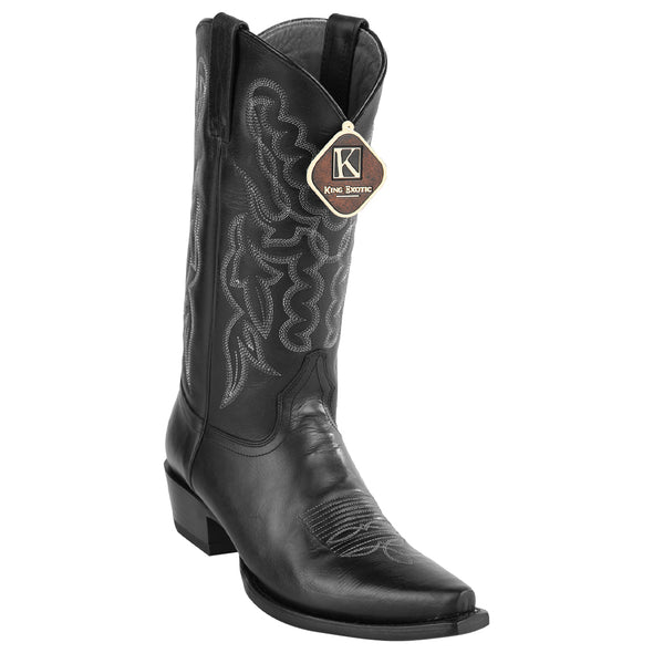 Men's King Exotic Snip Toe Pull Up Leather Boots Handmade - yeehawcowboy