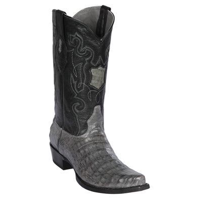 Men's Los Altos Caiman Belly Boots Snip Toe Handcrafted - yeehawcowboy