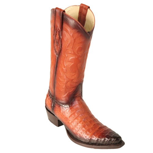 Men's Los Altos Caiman Belly Snip Toe Boots Handcrafted - yeehawcowboy