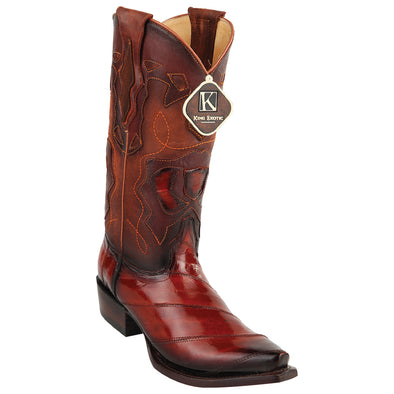 Men's King Exotic Snip Toe  Eel Boots Handcrafted - yeehawcowboy