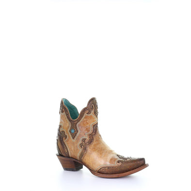 Women's Corral Western Boots Sand Embroidery Handcrafted - yeehawcowboy