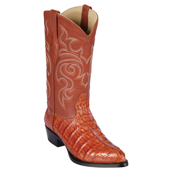 Men's Los Altos Genuine Caiman Tail J Toe Boots Handcrafted - yeehawcowboy