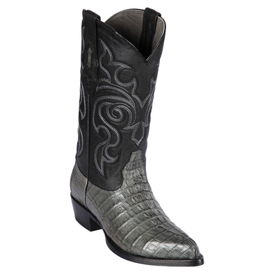 Men's Los Altos Caiman Tail Boots J Toe Handcrafted - yeehawcowboy
