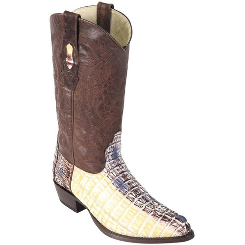 Men's Los Altos Genuine Caiman Tail J Toe Boots Handcrafted