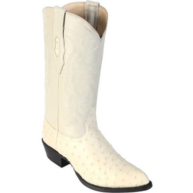 Men's Los Altos Genuine Full Quill Ostrich J Toe Boots Handmade - yeehawcowboy