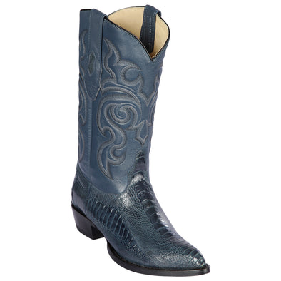 Men's Los Altos Genuine Ostrich Leg J Toe Boots Handcrafted - yeehawcowboy