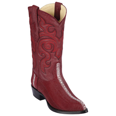 Men's Los Altos  Stingray J Toe Boots Full Rowstone Handmade - yeehawcowboy