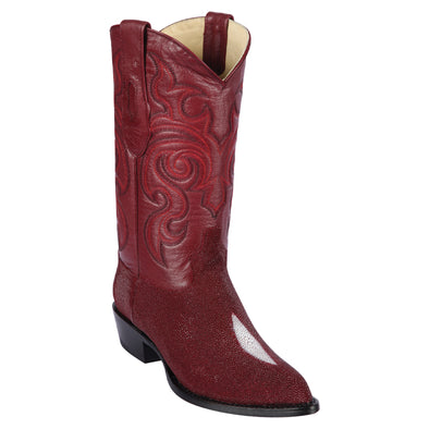 Men's Los Altos  Stingray J Toe Boots Single Stone Handmade - yeehawcowboy