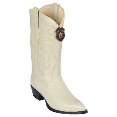 Men's Los Altos Genuine Elk Leather J Toe Boots Handmade - yeehawcowboy
