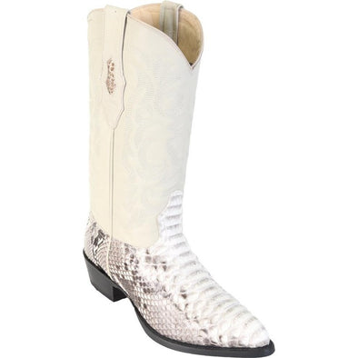 Men's Los Altos Genuine Python Snakeskin J Toe Boots Handcrafted - yeehawcowboy
