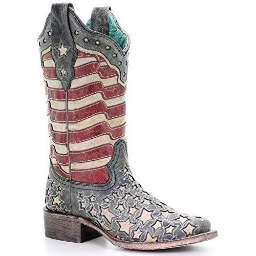 Women's Corral  Glow in the Dark Western Boots Handcrafted - yeehawcowboy