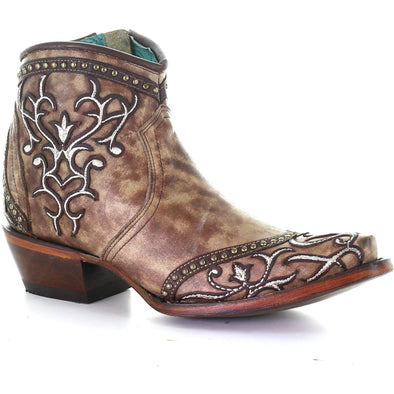 Women's Corral Western Boots Handcrafted Taupe - yeehawcowboy