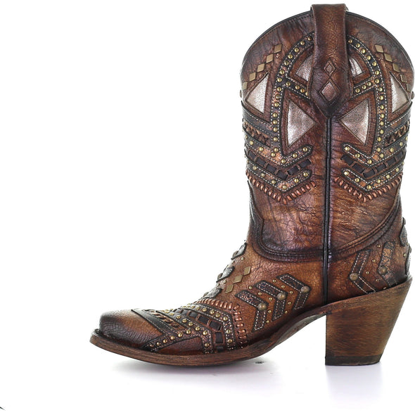 Women's Corral Western Boots Handcrafted Tobacco - yeehawcowboy