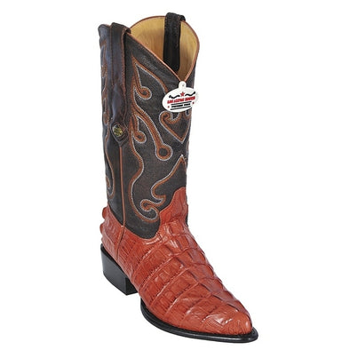 Men's Los Altos Caiman Tail Print Boots J Toe Handcrafted - yeehawcowboy