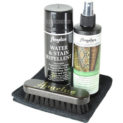 Angelus Brand Exotic Skin Cleaning Kit With Instructions - yeehawcowboy