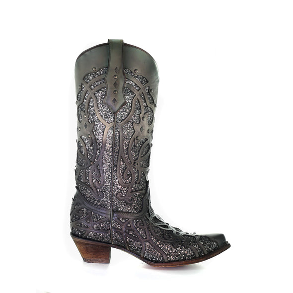Women's Corral Western Boots Handcrafted Gray - yeehawcowboy