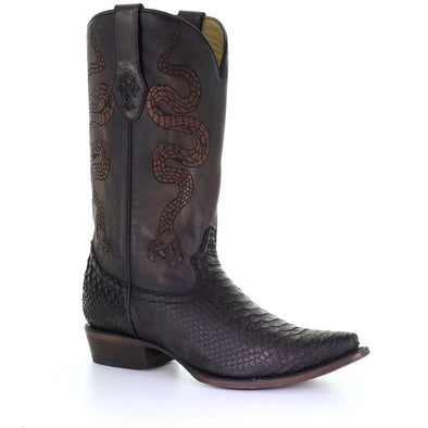 Men's Corral Python Exotic Boots Handcrafted - yeehawcowboy