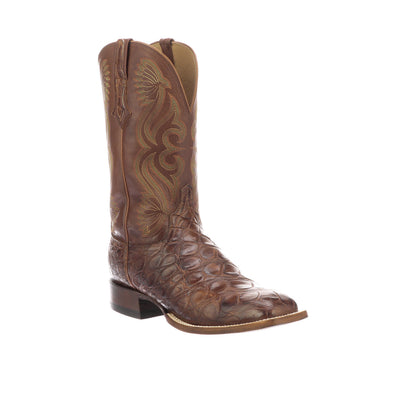 Men's Lucchese Roy Giant Gator Boots Handcrafted Brown - yeehawcowboy