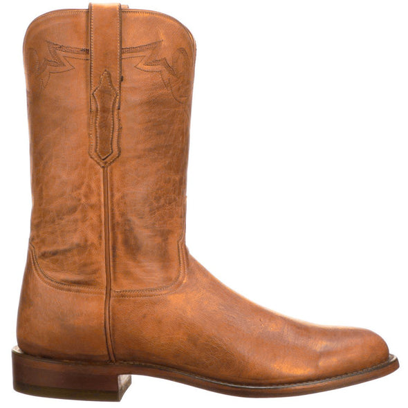 Men's Lucchese Sunset Roper Leather Boots Handcrafted Honey - yeehawcowboy