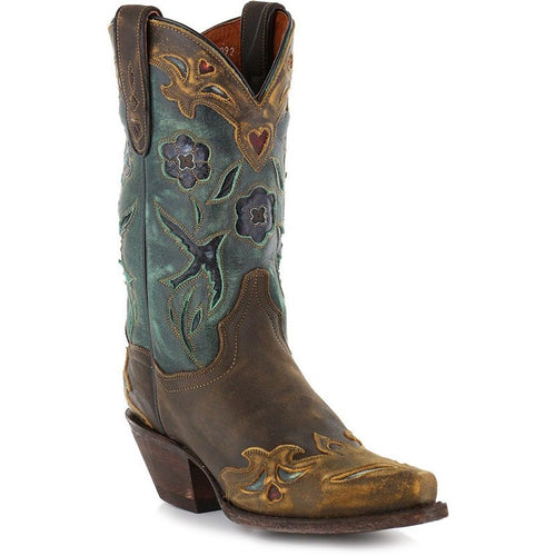 Women's Dan Post Vintage Bluebird Leather Handmade Boots - yeehawcowboy