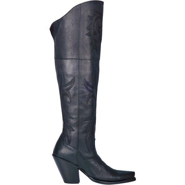 Women's Dan Post Jilted High Knee Leather Boots Handcrafted - yeehawcowboy