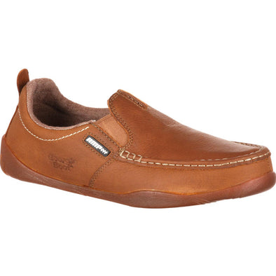 Men's Georgia Boots Cedar Falls Moc-Toe Slip-On - yeehawcowboy