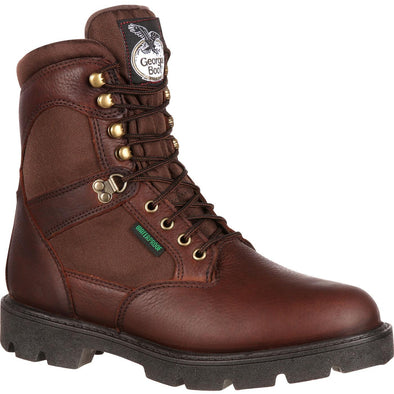 Men's Georgia Boots Homeland Steel Toe Waterproof Work Boots - yeehawcowboy